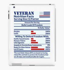 Veteran Nutrition Facts iPad Case/Skin