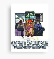 Open Source (Dark) Canvas Print