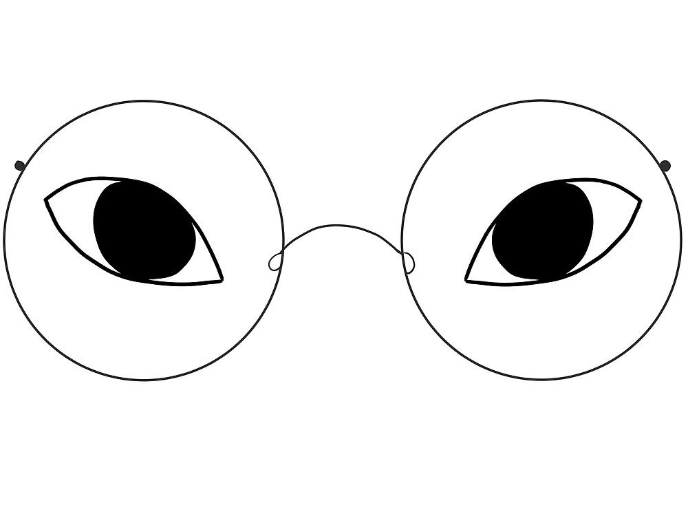 Eye Glasses - White by LemonPoppySeedM