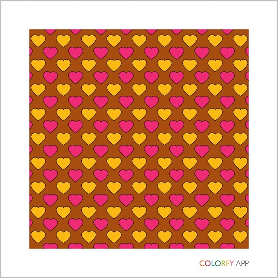 Pink and Yellow Heart Pattern by Emus
