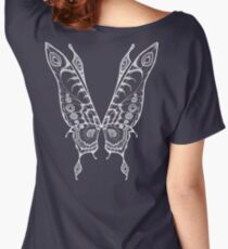 Fairy Wings (White Linework) Women's Relaxed Fit T-Shirt
