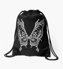 Fairy Wings (White Linework) Drawstring Bag