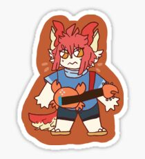 angry little crab stick Sticker