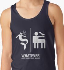 WHATEVER Just Wash Your Hands (White version) Tank Top