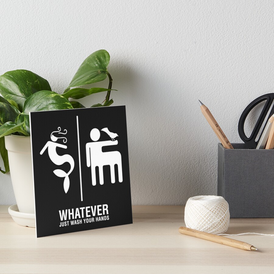 WHATEVER Just Wash Your Hands (White version) Art Board Print
