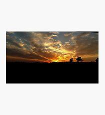 Sunset over Baldivis Photographic Print