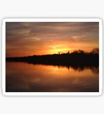 Buffalo Lake Sunset Sticker