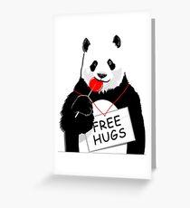 Cool Panda Design Greeting Card