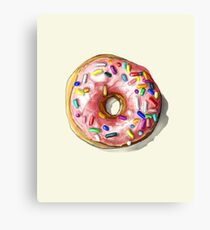 Just Another Generic Pink Donut with Sprinkles Canvas Print