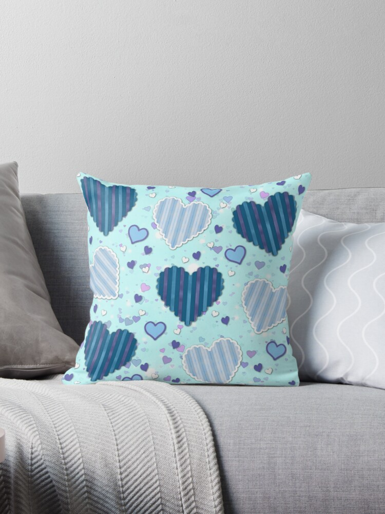 Blue Heart Pattern  by Jandsgraphics