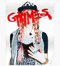 Grimes logo red Poster