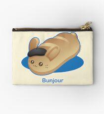 Bunjour -  Cute French Bread Bunny Pun Studio Pouch