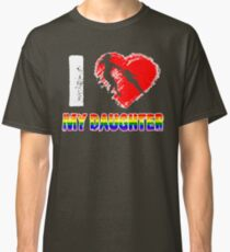 I Love my Daughter LGBT, Gay, Lesbian Pride day Mother T-Shirt Classic T-Shirt
