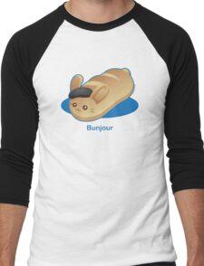Bunjour -  Cute French Bread Bunny Pun Men's Baseball ¾ T-Shirt