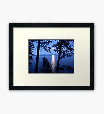 Flathead Moon Framed Print