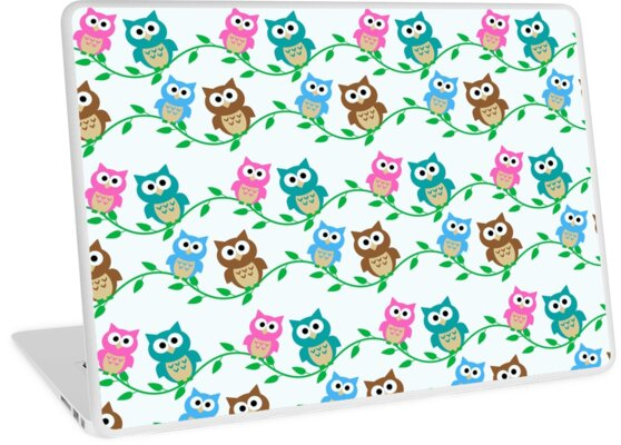 Cute Owls on Branches by Jandsgraphics