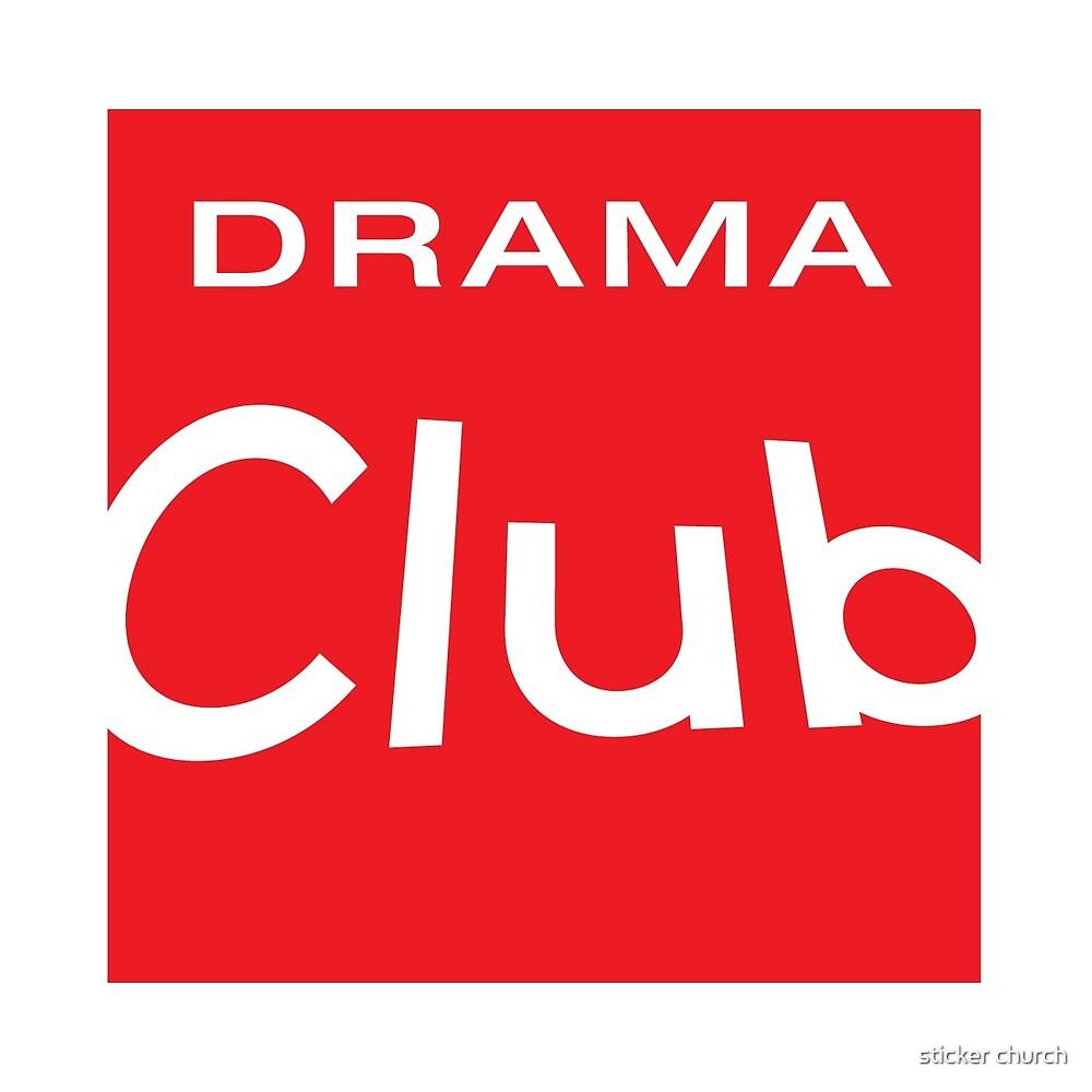 Drama Club Red Box Logo Design by sticker church