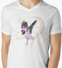 Love Bird (Pattern 1) Men's V-Neck T-Shirt