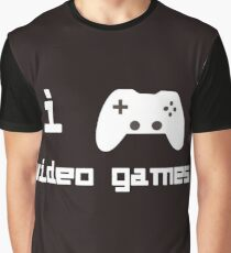 Retro Style I Play Video Games For Gamers Who Love Video Games Graphic T-Shirt