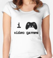 I Play Video Games For Gamers Who Love Video Games Women's Fitted Scoop T-Shirt