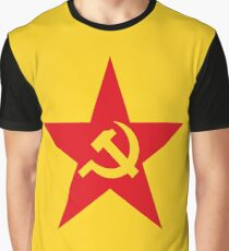 Communist Flag Star Hammer & Sickle Graphic T-Shirt