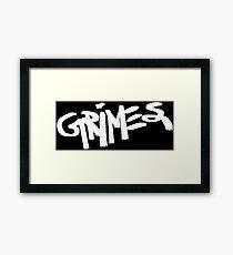 Grimes logo white Framed Print