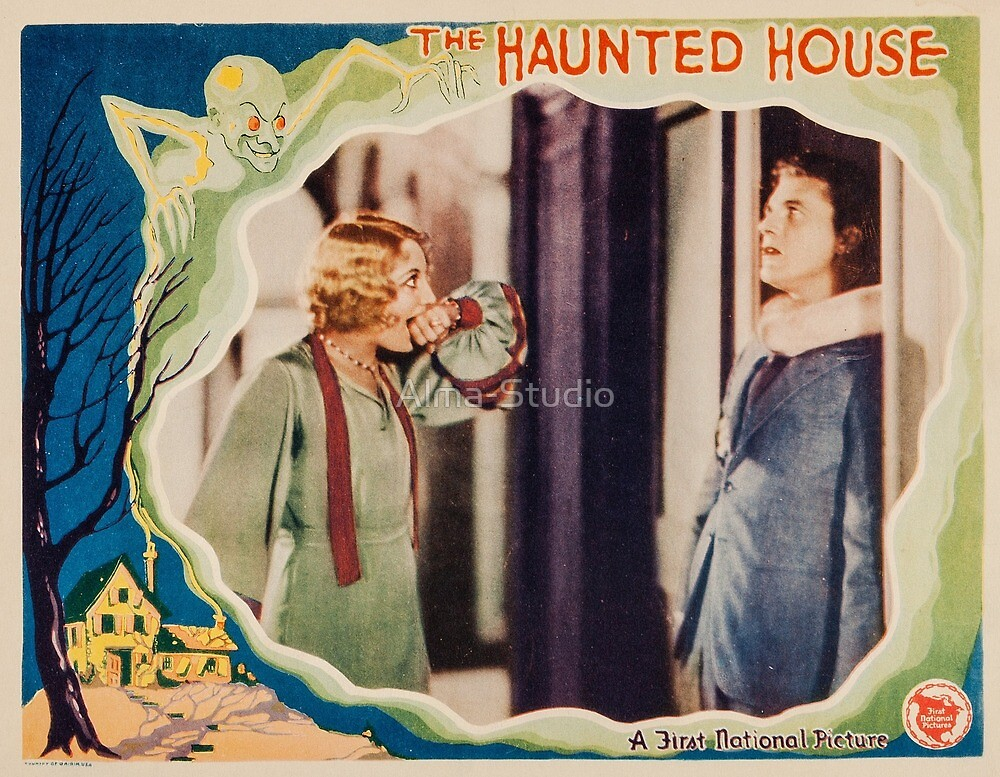 The Haunted House - vintage horror movie poster 1928 by Alma-Studio
