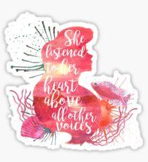 she listened to her heart v1 Sticker