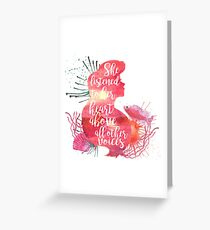 she listened to her heart v1 Greeting Card
