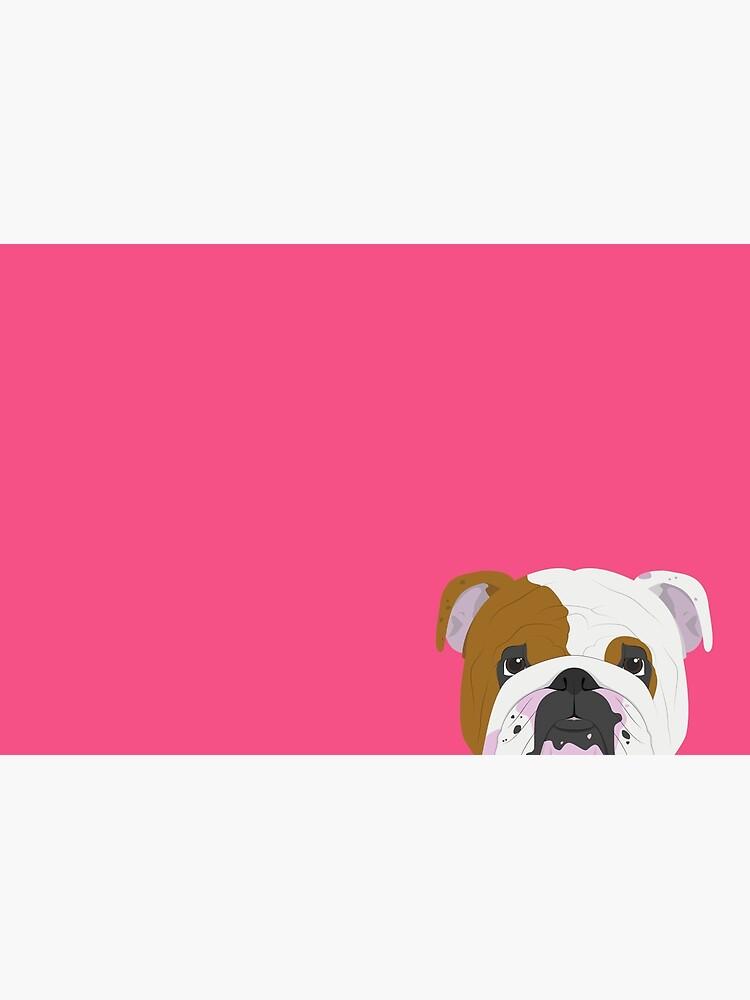English Bulldog Cute Dog Portrait Illustration by junkydotcom
