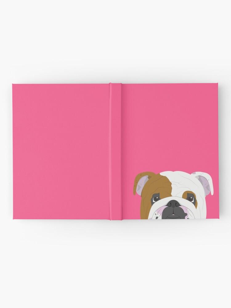 Alternate view of English Bulldog Cute Dog Portrait Illustration Hardcover Journal