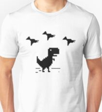 T-Rex Pixel Art T-Shirt Geek Offline Web Developer Nerd Tee T-Shirt