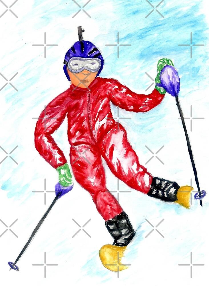 Skier Sport by AnnArtshock