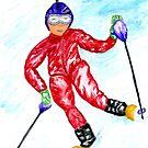 Skifahrer Sport von AnnArtshock