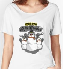 The attack of the Mecha Snowmen Women's Relaxed Fit T-Shirt