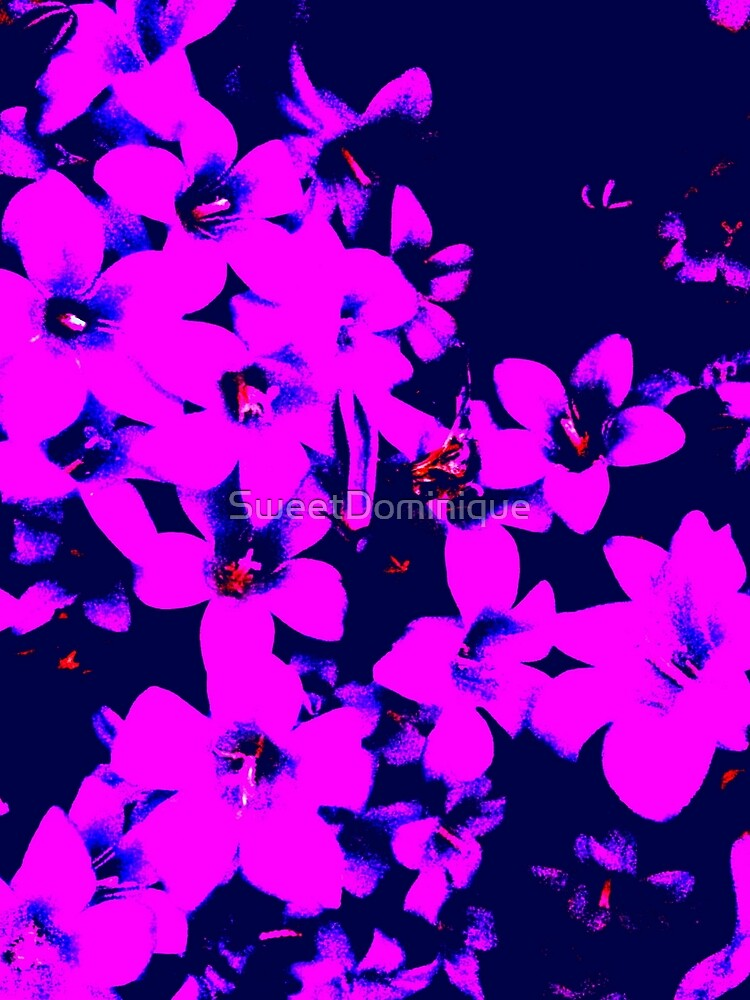Purple Flowers Abstract Floral Art by SweetDominique