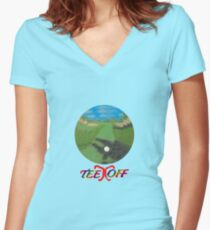 Tee Off Women's Fitted V-Neck T-Shirt