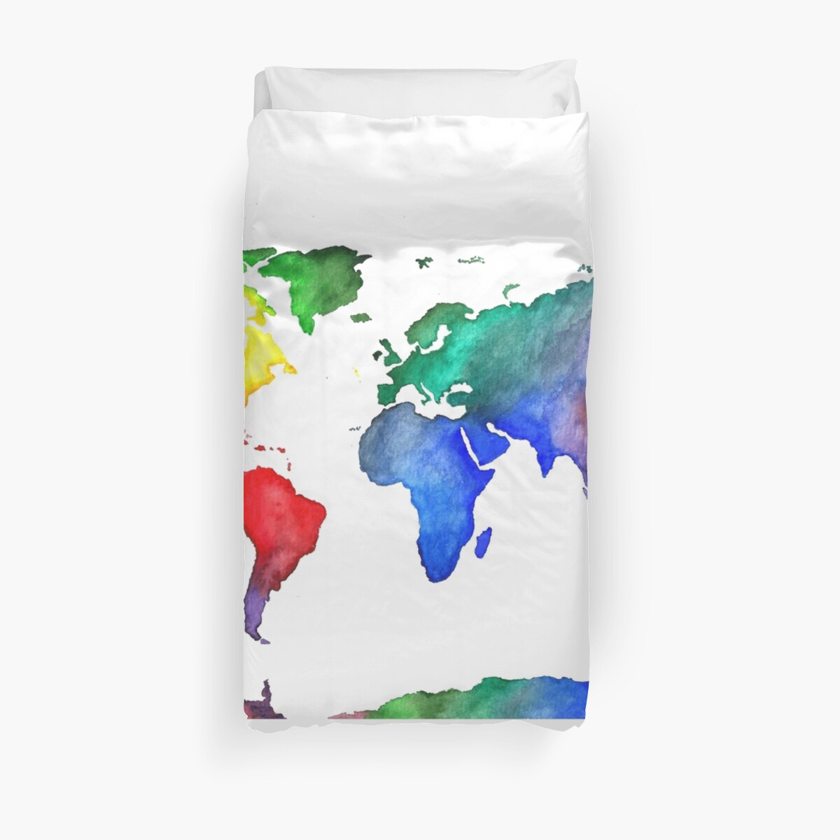 World Map World Map Colorful Travel Watercolor\