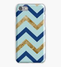 Marine zig zag - gilded turquoise iPhone Case/Skin