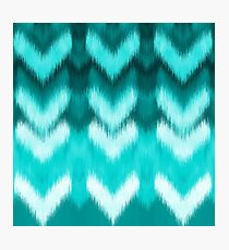 Teal hearts Photographic Print