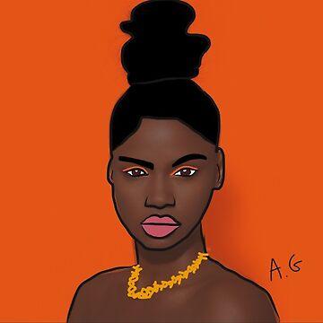 African model by angeeelsdrawing