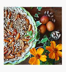 Apricot Crumble Photographic Print