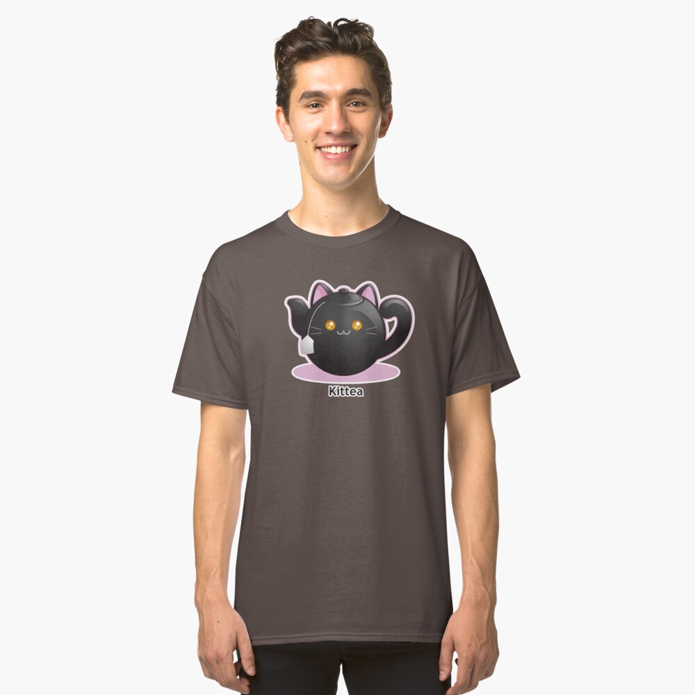 Cute Tea Pot Cat: Kittea Classic T-Shirt Front