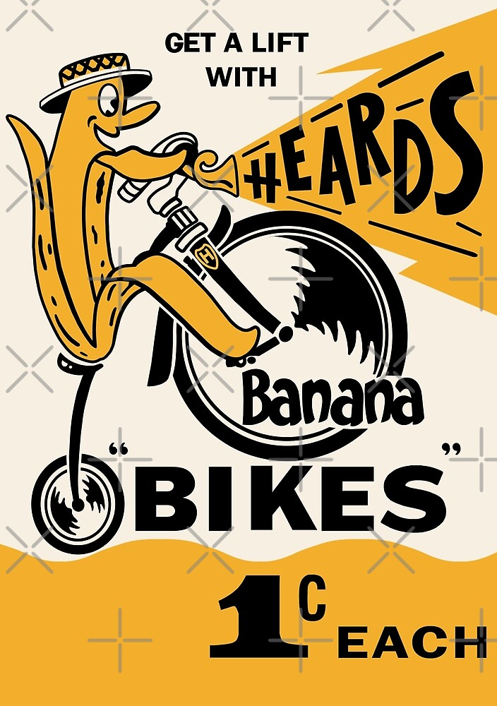 Heard's Banana Bikes Box 1970s by Darian  Zam