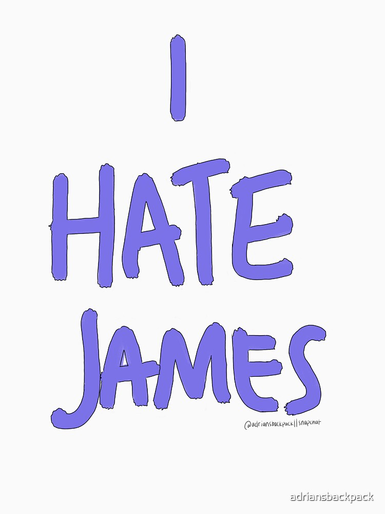 i hate james (purple) by adriansbackpack
