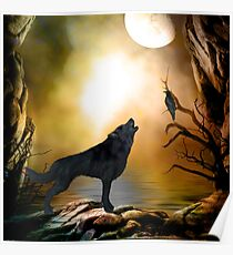 The lonely wolf Poster