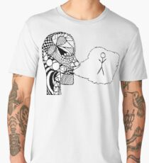 Thought is a Bird of Space Men's Premium T-Shirt