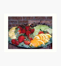 Fruit Tray Art Print