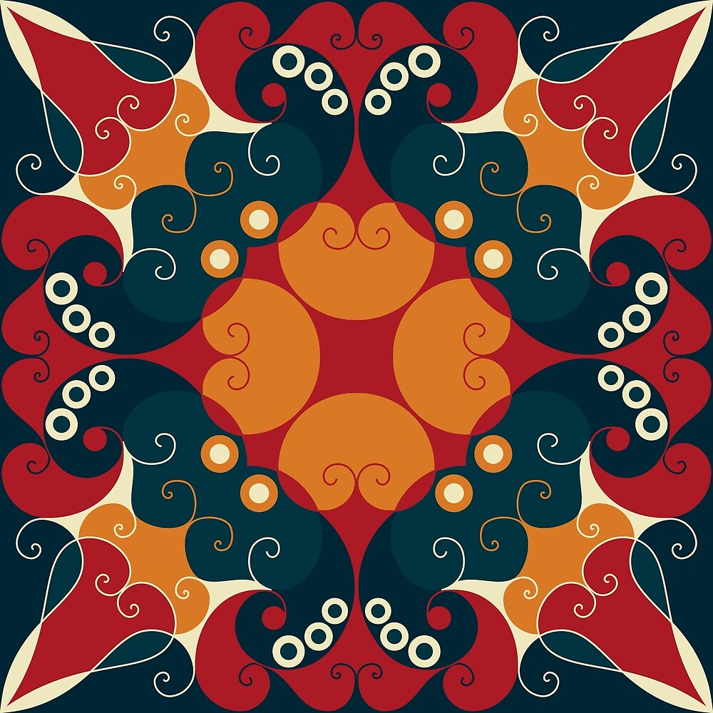 Abstract ethnic ornament by Anzhelika1984