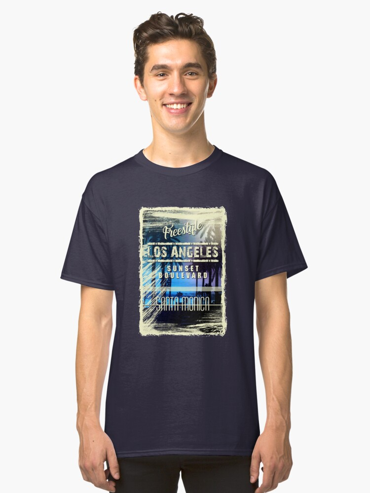 los angeles - santa monica 7 Classic T-Shirt Front
